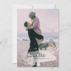Shop Pastel Watercolor Overlay Save Our Date Photo Card created by PhrosneRasDesign. Save The Date Photos, Save The Date Cards, Wedding Stationery, Wedding Planner, Calligraphy Borders, Calligraphy Save The Dates, Beautiful Calligraphy, Pastel Watercolor, Wedding Save The Dates