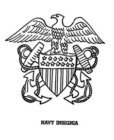 Armed Forces Day Coloring page | US Navy Insigina