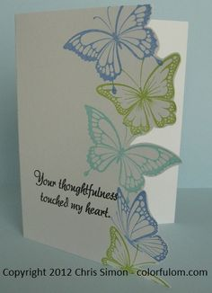 I get a lot of inspiration from the Papertrey Ink design team members. Here are a couple of cards that I made using ...