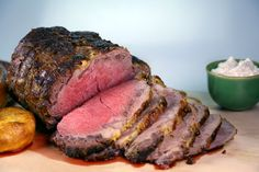Prime Rib with Dijon and Whipped Horseradish Cream by Curtis Stone