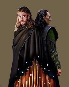 Loki and Thor by missstreelight