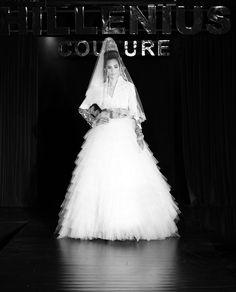 Hillenius Couture #Hillenius #Weddingdress #statementpiece #embroidery #silver #tulle #wedding #runway #catwalk