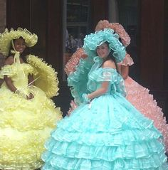 gone with the wind wedding theme - Your bride maids dresses Jena.... I want the yellow by the way lol