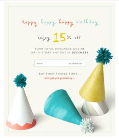 ANTHROPOLOGIE | happy happy happy birthday