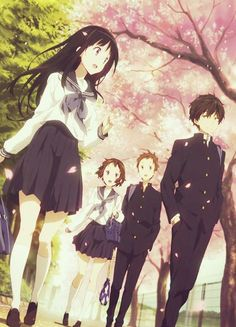Chitanda, Oreki, Ibara, and Satoshi ~Hyouka Manga Anime, Film Manga, Manga Art, Anime Art, Anime Demon, Anime Cosplay, Manga Japan, Tamako Love Story, Kyoto Animation