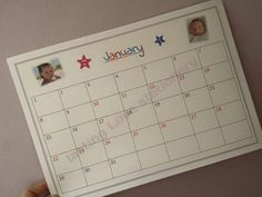 Photo personalised Children's wall calendar  dry by LLStationery