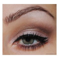 20 Gorgeous Makeup Ideas for Green Eyes via Polyvore featuring beauty products, makeup and eye makeup