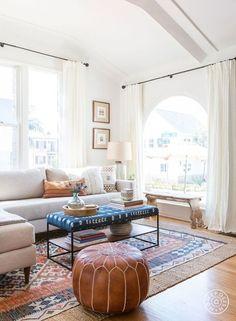 Boho living room! Eclectic decor in an older home. #ShopStyle #shopthelook #MyShopStyle #afflink