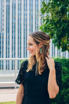 Kendra Scott earrings —via @TheFoxandShe