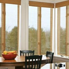 Blinds.com Brand Bamboo Roller Shades in Osaka Sesame. Woven Wood Roller Shades provide simple functionality and an all-natural appearance. See more colors and textures at Blinds.com