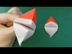 """クリスマス「パクパクサンタ」オーナメント折り紙Christmas """"Talking Santa Claus"""" ornament origami - YouTube"""
