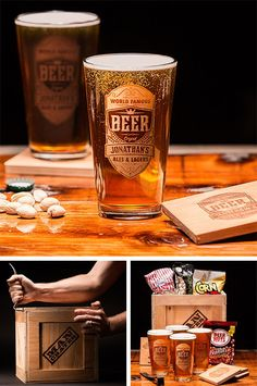 Beer glasses with his name on them? A gift he'll love this V-Day! l ManCrates