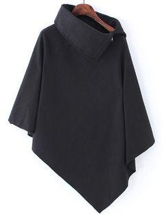Negozio Cappa asimmetrica con collo alto nera on-line. SheIn offre Cappa asimmetrica con collo alto nera & di più per soddisfare le vostre esigenze di moda.