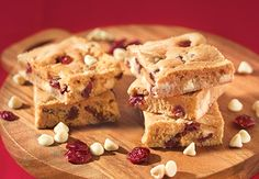 White Chocolate Cranberry Blondies SUPER yummy!  A friend made these for my baby shower and they were DEEEELISH!