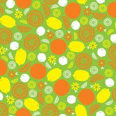 A Splash of Citrus (Green) - robyriker - Spoonflower