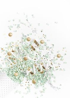 Styled Stock Photography | mint, white, & gold confetti party image | Styled Stock Photography for creative business owners. mint, white, & gold confetti image by SCstockshop Join the mailing list and get free styled stock images to your inbox every month: http://shaycochrane.com/sc-insider/