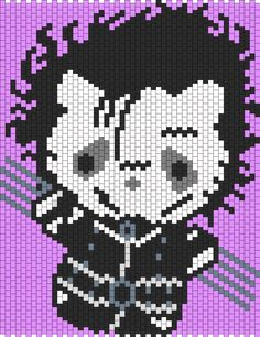 Edward Scissorhands Hello Kitty bead pattern