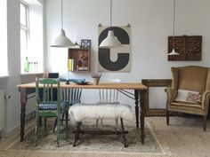 Sandy's Cozy Copenhagen Home. Hang lights from ceiling in areas with small windows.
