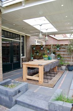 Backyard Patio Designs, Backyard Landscaping, Extension Veranda, Backyard Sitting Areas, Veranda Design, Budget Patio, Outdoor Living, Outdoor Decor, Patio Table
