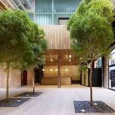 A Madrid, l'agence MVN Arquitectos a reconverti un ancien atelier en bureaux pour la Fondation Botin à Madrid.