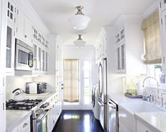 36 small galley kitchens we love Famous interior designers