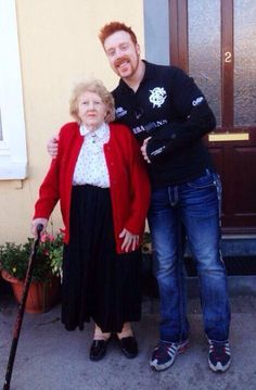 Sheamus and his grandmother. Adorable!