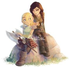 I'm so happy that they flushed out Heather and Astrid's relationship so well in RTTE. I wish they were sisters. XD