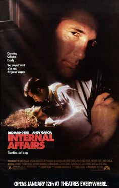 Internal Affairs (1990) Review Andy Garcia, Richard Gere, Nancy Travis, 1990 Movies, 1990s Films, Tea Gift Baskets, Usa People, Internal Affairs, Internet Movies