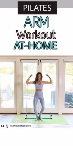 """How Beautifully one can carry out the entire workout using Flexies Pilates Bar with such great postures & body alignments. Perform Upper Body workout AT-HOME Avoiding Expensive machines and Studio Fees with the most Versatile Home workout Prop: """"Flexies Pilates Bar"""" Discount coupon """"Pinterest05"""" #ad Pilates Routines, Pilates Workout Videos, Pilates Mat, Pilates Instructor, Tone Up Workouts, Arm Workouts At Home, Body Workout At Home, Bar Workout, Biceps Workout"""