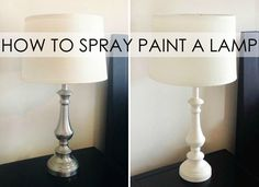 How to Spray Paint a Lamp - great DIY idea to makeover decor you already have!