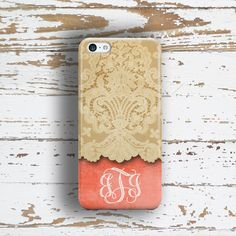 Personalized wedding gift, iPhone 6 case for women, Coral iPhone 5s case, Pretty Iphone 4s case, Girly Iphone 5c case, Tangerine lace (9643P by ToGildTheLily on Etsy https://www.etsy.com/listing/96514934/personalized-wedding-gift-iphone-6-case
