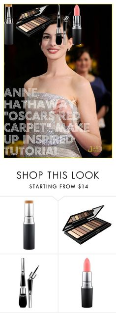 """""""Anne Hathaway """"OSCARS red carpet"""" make up inspired tutorial"""" by oroartye-1 on Polyvore featuring beauty, jared, L'Oréal Paris, Lancôme and MAC Cosmetics"""