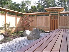I really like this fence!  Asian Home Mid Century Modern Design, Pictures, Remodel, Decor and Ideas