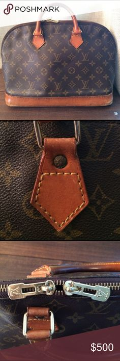 Louis Vuitton Alma Pre-loved LV bag. Super classy and a classic! Louis Vuitton Bags Satchels