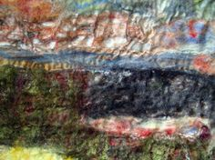 Moira West, 2012, detail from 'Earth Series', remnants, wool and silk
