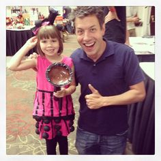 My daughter Lyra and Barry Kripke (John Ross Bowie) from The Big Bang Theory.  He loved her Dalek cosplay and wanted me to take his picture with her!  He posted it to his instagram!  :)  Photo by johnrossbowie(johnrossbowie): This is Lyra. She just won a costum... | iPhoneogram