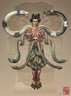 Coatlicue- Mãe dos Deuses Astecas