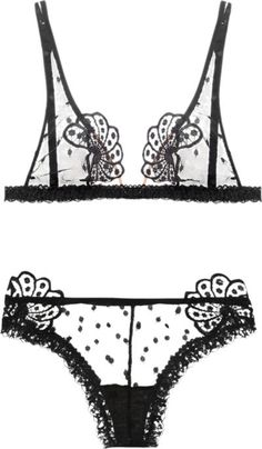 La Perla black lingerie