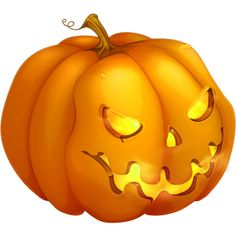 Halloween_Pumpkin_Monster_Clipart.png ❤ liked on Polyvore featuring halloween