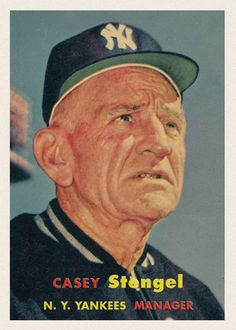 Cards That Never Were Designs - Keith Conforti Pirates Baseball, Baseball Star, New York Yankees Baseball, Ny Yankees, Damn Yankees, Mlb Players, Baseball Players, Baseball Manager, Casey Stengel