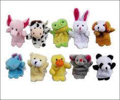 Oh so adorable velvet finger puppets - get ten of 'em for just $3.49 shipped!