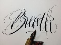 Breath | pointed pen and iron gall ink | barbara calzolari | Flickr