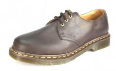 Dr Martens 1461 Crazy Horse Yellow Stich Shoes Brown -  £59.99
