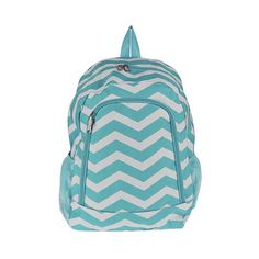 Monogrammed Backpack Aqua Chevron Girls by DoubleBEmbroidery 38e8c88d3904f