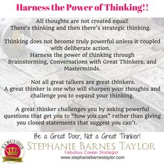 Are you sharing your thoughts with great talkers or great thinkers?   #‎fabulousuniversity #‎productivecontemplation