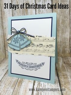 Klompen Stampers (Stampin' Up! Demonstrator Jackie Bolhuis): 31 Days of Christmas Cards - Day #16