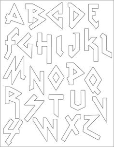 PACK Embroidery Patterns - HEAVY METAL ALPHABET cute heavy metal embroidered alphabet (as if I have time for that!)cute heavy metal embroidered alphabet (as if I have time for that! Alphabet Graffiti, Graffiti Lettering Fonts, Hand Lettering Alphabet, Creative Lettering, Lettering Styles, Cute Fonts Alphabet, Alphabet Letters To Print, Bubble Letter Fonts, Alphabet Templates