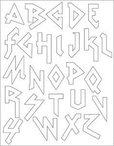 PACK Embroidery Patterns - HEAVY METAL ALPHABET cute heavy metal embroidered alphabet (as if I have time for that!)cute heavy metal embroidered alphabet (as if I have time for that! Graffiti Lettering Fonts, Tattoo Lettering Fonts, Hand Lettering Alphabet, Graffiti Alphabet, Creative Lettering, Lettering Styles, Cute Fonts Alphabet, Alphabet Letters, Alphabet Templates