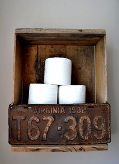 DIY Toilet Paper Holder | This would look really great on your bathroom. #DIYReady DIYReady.com