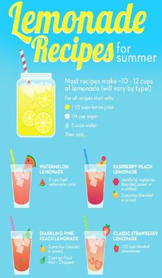 Lemonade Recipes For Summer! #Food #Drink #Trusper #Tip